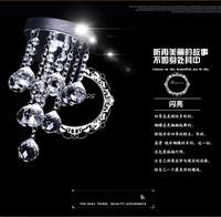 Modern minimalist Round K9 crystal Chandeliers crystal lamp  bedroom living room restaurant crystal Chandeliers
