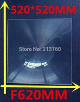 520*520mm F620 Fresnel Lens,Solar Fresnel projection lens,Temperature of 500 degrees,Spot size minimum 20 mm in diameter
