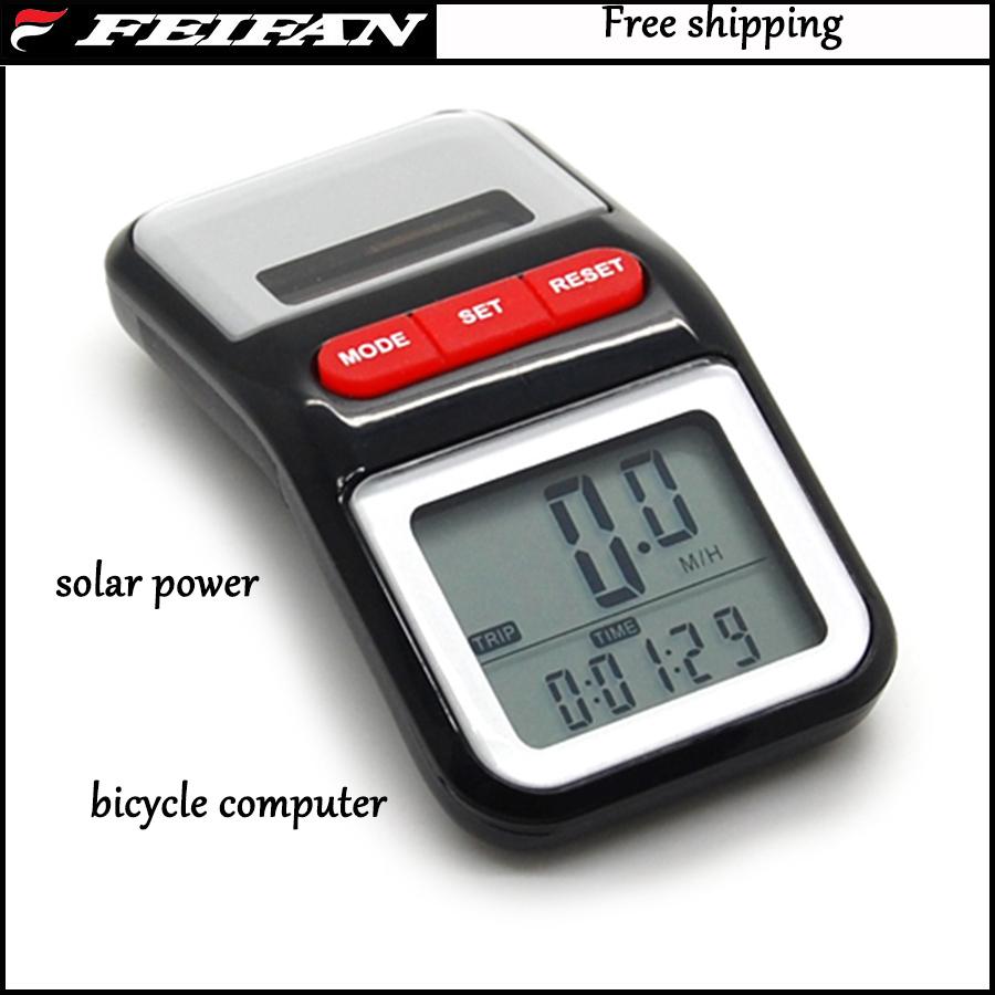 Solar Energy power Meter Cycle Computer Power Bike Bicycle Speedometer ...