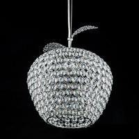 Modern minimalist apple LED k9 crystal lamp  chandelier in the dining room bedroom living room crystal chandelier