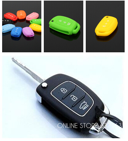 FOR HYUNDAI CAR FLIP KEY COVER CASE SILICONE i10 i20 i30 IX35 Elantra Accent(China (Mainland))