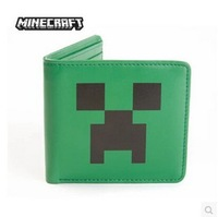 New MINECRAFT CREEPER Creeper Wallet Anime peripheral Wallet Desigual Wallets Free shipping Carteira Bag Money Clip