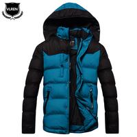 Wadded jacket men's clothing outerwear male cotton-padded jacket 2014 slim medium-long cotton-padded jacket men's plus velvet