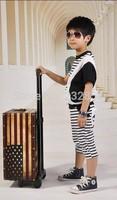 The new 2014 children suit boy children bat + Haren pants boy child suit summer cotton T-shirt