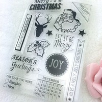 2different Design Christmas Design Rubber Clear Stamps Transparent Silicone Seal For DIY Photo Album/Scrapbooking Making Tools