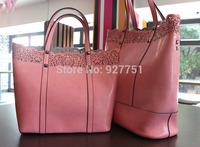 New Women Handbag Genuine Leather Bag Stripe Shoulder Bag Fashion Women Leather Handbag Casual Tote Vugue Bolsas