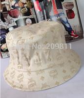 hip hop men women bucket hats outdoor Letters embossed leather winter fishing cap
