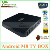 Original Android M8 Amlogic S802 Android 4.4 Kikat OS Octo-core Mali-450MP GPU Android TV Box Quad Core M8 Android TV Box