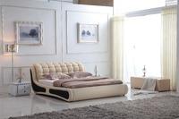 0414-802 modern design soft leather bed