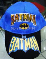 Free Shipping!100pcs/Lot !Popular Movie Character Baseball Caps Batman Cartoon Kids Visors Sun Hat G039 On Sale Wholesale