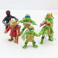 10sets Free shipping 6pcs/set Teenage Mutant Ninja Turtles PVC figure TMNT Michelangelo Leonardo Raphael Splinter Donatello toy