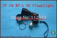 1PC UltruFire C8 CREE XP-L V5 LED SMO Flashlight 1350Lumen 1 Mode On-off  LED Torch+Free Shipping