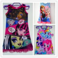retail 2014 my little pony monster hight kids baby lace dress cute toddler girl clothes cartoon tutu dress 5 color