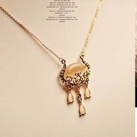 2014 fashion opal necklace short paragraph clavicle