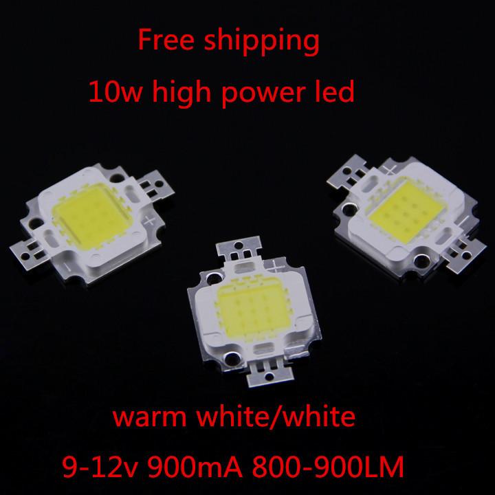 Spedizione gratuita 20pcs/lot 10w perline portato chip smd ad alta potenza lampada a led bianco caldo/bianco taiwan 24*40mil 9-12v 900ma chip