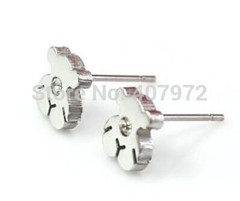 Классические женские серьги полые из нержавеющей стали медвежонок серьги te799 стали цвет