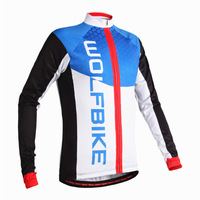 WOLFBIKE Thin Breathable Bike shirt Bicycle Cycling Jersey Waterproof Long Sleeve Coat Jersey Ciclismo Jacket