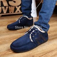 2014 New Men's Fur Snow Shoes Korean Casual Sneaker Letter Shoe Men's Damping PU Slip-on Shoe Flat Size 39-44 Drop Shipping