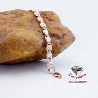 85300218&3 18K gold plated Russia CC color rose gold zircon Bracelet