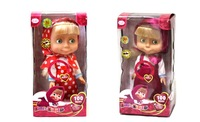 2015 New Talking Masha and Bear Dolls 100 Phrases Russian Language Masha Doll Russian Educational Toys