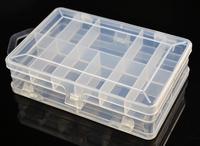 006 Fishing Plastic Box Rectangular transparent fishing lure box Small size and light weight