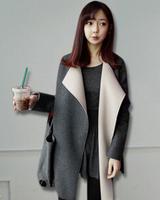 fourrure Autumn and winter 2014 Korean Women Slim woolen coat lapel Girls long woolen coat