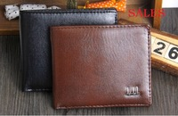 New arrival 2014 designer Men's  Casual Wallets Leather Purse man black brown card holders Coin Bag Wholesale free shipping