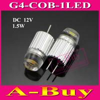 1Pcs New 1.5W G4 COB 1LEDs Droplight Bulb DC 12V LED Crystal Chandeliers Non-polar LED Ceiling Ligh