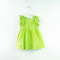 New 2014 Children Summer Clothing Wear Girls Cute Dresses Baby Girl Petal Sleeve Fairy Girls Dress Summer Clothes