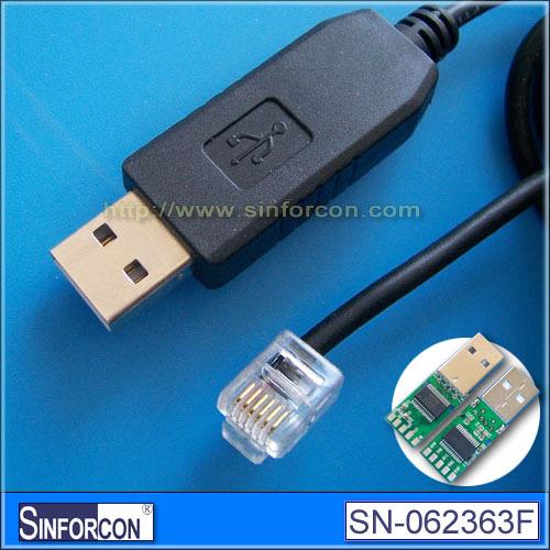 USB serial RJ11 6P6C, FT232RL+ZT213 USB RS232 RJ11 cable(China (Mainland))