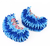 Magic Mop House Cleaner Easy Mops Floor Cleaning Foot Shoe Cover Mop Cleaning  House Slippers