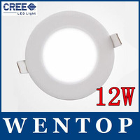 4PCS 12W CREE LED Recessed Ceiling Panel Down Lights Bulb with driver Round free shipping with tracking number for dropship