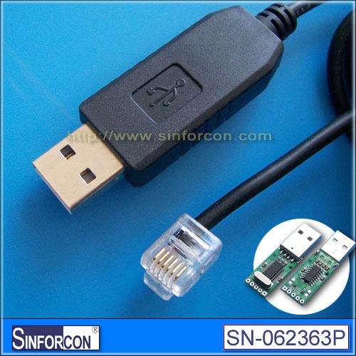 PL2303TA, spt Win8, USB RS232 to RJ25 6P6C male, USB serial RJ11 cable(China (Mainland))