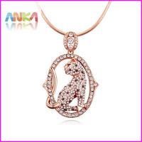 2014 Crystal Necklace For Women Fashion Leopard Necklaces & Pendants Wholesale #110593