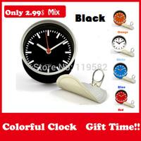 2015 Wholesale Colorful Mix Designs Gifts Black Color Clocks Magnetic Wall Clocks in Table Desk Clock Mix Design Moq 100PCS