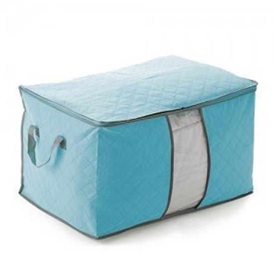 Fashion Foldable Storage Bag Clothes Blanket Quilt Closet Organizer Box Pouch zlSC135(China (Mainland))