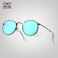 Mens Womens Womens Sunglasses Brand Designer Round Metal Sun Glasses 3447 Sunglass Gold Green 50mm Glass Lenses Glamorous gafas