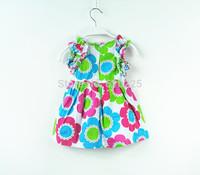 New 2014 Children Summer Wear Girls' Dresses Baby Girls Dresses Cute Floral Summer Dress Summer Dress For Kids