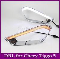 High Quality! New 2013-2014 CHERY Tiggo 5 Daytime Running Light Fog lamp LED DRL Free Shipping