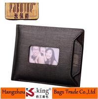 B.King 2014 New Luxury Brand Fashion Photo Slot Desigual Men Wallets , High Quality Genuine Leather Carteira Masculina Wallets