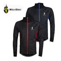 WOLFBIKE Warm Men Fleece Thermal Winter Wind Cycling Jacket Windproof Bike Bicycle Coat Clothing Waterproof Long sleeved Jersey