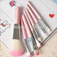 7Pcs/Set Hello Kitty Cosmetic Brush Makeup Sets Makeup Tools Free Shippong