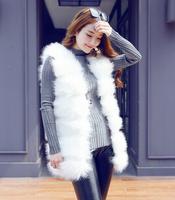 fourrure Imported imitation fur fox fur coat in the long section 2014 autumn and winter women stitching vest fur vest