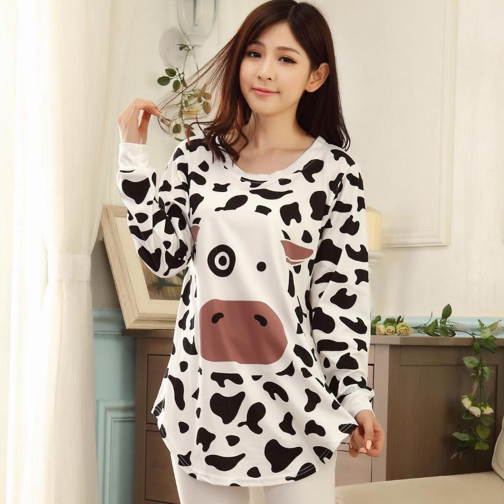 Женская пижама GZMA  milk cow