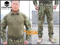 Emerson BDU Military army combat uniform BDU Gen2 Combat Shirt Pants with elbow knee pads AOR2 EM6924