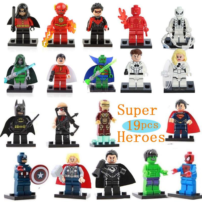 19pcs/lot Marvel Super Heroes HULK Flash Action Toys Figure Building Blocks Sets Minifigures classic toys Compatible with legooo(China (Mainland))