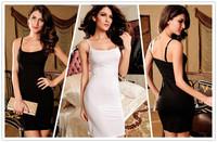 Hot Sale Spaghetti Straps Black/White Fashion Cocktail Dress Women Summer Casual Dresses Free Shipping B4941 Eshow