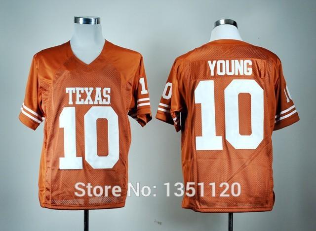 NCAA #10 Vince Young Football Jerseys Texas Longhorns College Vince Young Cheap Football Jersey M-XXXL Free Shipping(China (Mainland))