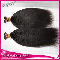 "18"" 20"" 22"" 24"" 100g Italian keratin Nail Tip I tip hair extensions 1g/s 100% brazilian Human Hair black brown blond in stock"