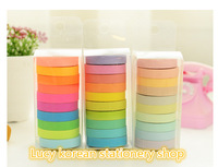 New come free ship 1lot=30pcs/Korean stationery wholesale  rainbow paper tape mask washii tapes promotionla gift